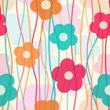 Kleurrijk bloemenpatroon Stock Afbeeldingen