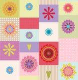 Kleurrijk bloemontwerp Stock Fotografie