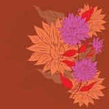 Kleurrijk Bloemornament Royalty-vrije Stock Afbeelding