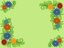 Kleurrijk bloempatroon als groetkaart Stock Afbeeldingen