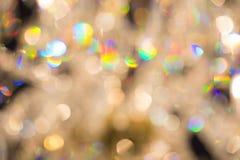 Kleurrijk blured glanzende lichte achtergrond Stock Foto's