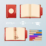 Kleurrijk boek royalty-vrije illustratie