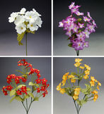 Kleurrijk boeket vier van stoffenbloemen royalty-vrije stock afbeeldingen