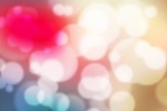 Kleurrijk Bokeh-Kleurrijk Vaag Behang Als achtergrond Stock Afbeelding