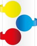 Kleurrijk brochureontwerp Stock Foto