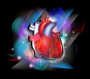 Kleurrijk cardiologieontwerp stock illustratie