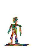 Kleurrijk cijfer van een menselijk wezen; landschapsformaat Royalty-vrije Stock Fotografie