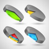 Kleurrijk Cirkeldiagram Stock Afbeeldingen