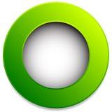 Kleurrijk cirkelkenteken, knoop, speld, etiketelement Lege spatie, vector illustratie