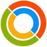 Kleurrijk cirkelmotief met cirkels in twee delen Generische cirkelic stock illustratie