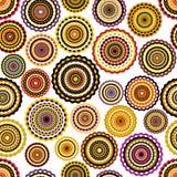 Kleurrijk cirkels naadloos patroon. Stock Afbeelding