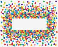 Kleurrijk confettienframe. royalty-vrije illustratie