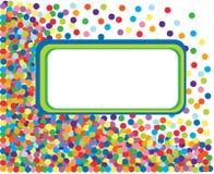 Kleurrijk confettienframe. stock illustratie