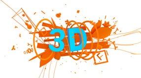 Kleurrijk 3D teken Stock Afbeelding