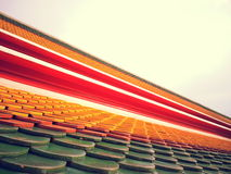 Kleurrijk dak stock afbeelding