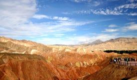 Kleurrijk Danxia-landschap, zeer mooi landschap Royalty-vrije Stock Foto's