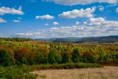Kleurrijk de herfstlandschap in de berg Royalty-vrije Stock Afbeelding