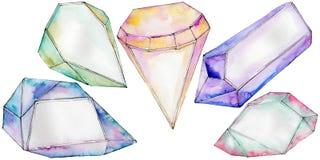 Kleurrijk de juwelenmineraal van de diamantrots Stock Foto