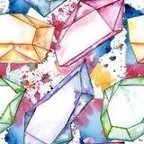 Kleurrijk de juwelenmineraal van de diamantrots Royalty-vrije Stock Foto's