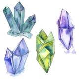 Kleurrijk de juwelenmineraal van de diamantrots Royalty-vrije Stock Afbeelding