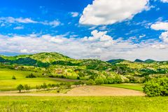 Kleurrijk de lentelandschap in Kroatië Royalty-vrije Stock Fotografie