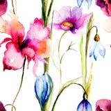 Kleurrijk de zomer naadloos patroon Stock Afbeeldingen