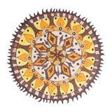 Kleurrijk decoratief hand getrokken mandalapatroon stock fotografie
