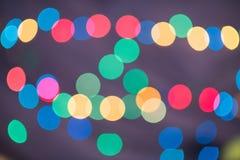 kleurrijk defocused bokeh licht voor abstract gebruik als achtergrond Ho Royalty-vrije Stock Foto