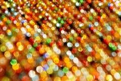 Kleurrijk defocused lichten Stock Foto's