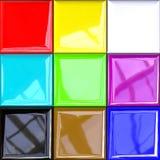 Kleurrijk designlpalet Stock Foto's