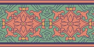 Kleurrijk die patroon met kleuren bloemenmotief wordt geplaatst Stock Foto