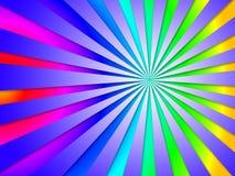 Kleurrijk Dizzy Striped Tunnel Background Means Dizzy Abstractio Royalty-vrije Stock Foto