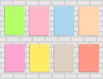 Kleurrijk document acht voor bureaunota's, memoranda, advertenties stock illustratie