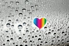 Kleurrijk document hart Stock Foto's