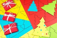 Kleurrijk document met druk voor Nieuwjaar Stock Foto