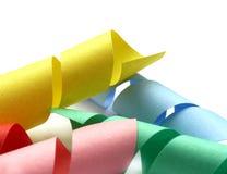 Kleurrijk document op wit Stock Fotografie
