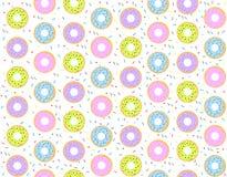 Kleurrijk donutspatroon Royalty-vrije Stock Afbeelding