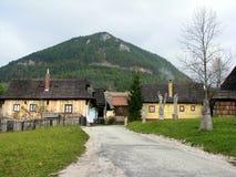 Kleurrijk dorp Stock Fotografie
