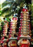 Kleurrijk dorpsfestival Stock Foto's