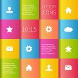 Kleurrijk dozen ui ontwerp Stock Foto's
