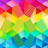 Kleurrijk driehoekig behang met trap binnen ontwerp Royalty-vrije Stock Fotografie