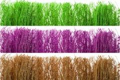 Kleurrijk droog stro op wit geïsoleerde achtergrond royalty-vrije stock afbeelding