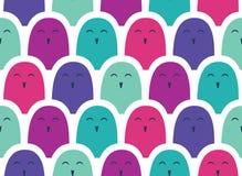 Kleurrijk eenvoudig patroon. Menigte Stock Fotografie