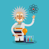 Kleurrijk Einstein-ontwerp vector illustratie