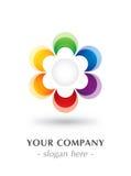Kleurrijk embleemontwerp Stock Afbeelding