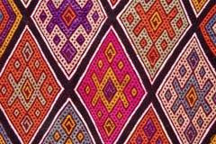 Kleurrijk en gevormd tapijt stock foto's