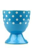 Kleurrijk en verfraaid blauw en wit eierdopje Royalty-vrije Stock Afbeelding