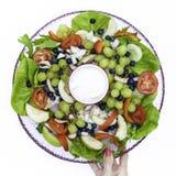 Kleurrijk en Verse salade - Stock Afbeeldingen