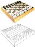 Kleurrijk en zwart-wit patroon voor het kleuren Raad voor speelcontroleurs stock illustratie