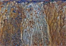 Kleurrijk erosieland Stock Foto's